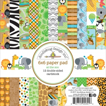 Doodlebug Design - Papierblock At the Zoo Paper Pad 6x6""