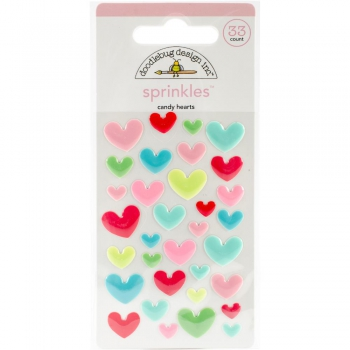Doodlebug Design - Adhesive Sprinkles Candy Hearts