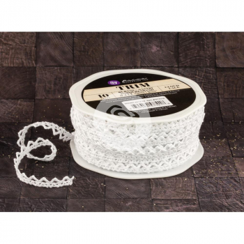 Prima Marketing - Spitzenband Lace Trim Cloud 7mm