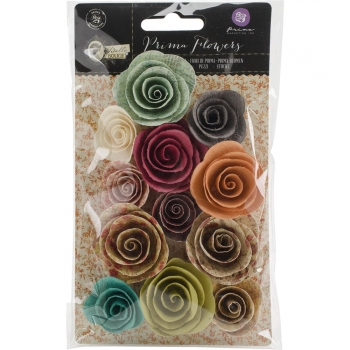 Prima Marketing - Bella Rouge Paper Flowers Rosselin