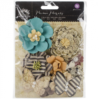 Prima Marketing - Timeless Memories Paper Flowers Nostalgia