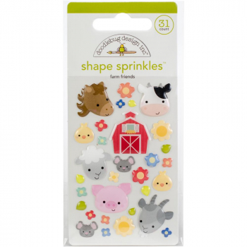 Doodlebug Design - Adhesive Shape Sprinkles Farm Friends
