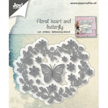 Joy! Crafts - Stanzschablone Floral Heart and Butterfly