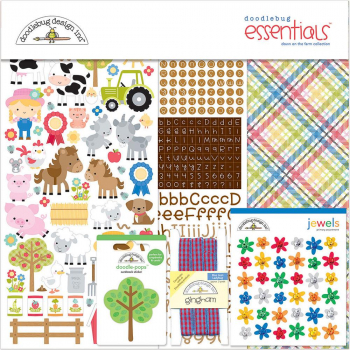 Doodlebug - Papierkit Down on the Farm Essentials Page Kit 12x12""