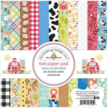 Doodlebug Design - Scrapbooking Papier Down on the Farm Paper Pad 6x6""