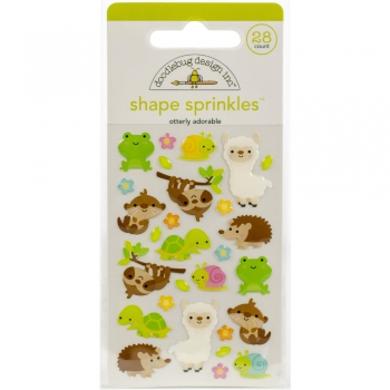 Doodlebug Design - Stickers Otterly Adorable Adhesive Shape Sprinkles
