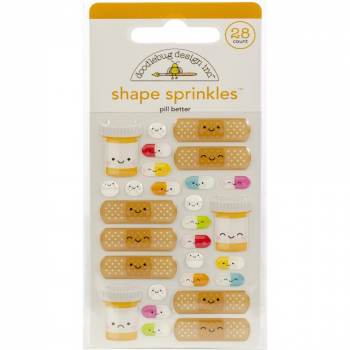 Doodlebug Design - Stickers Pill Better Adhesive Shape Sprinkles