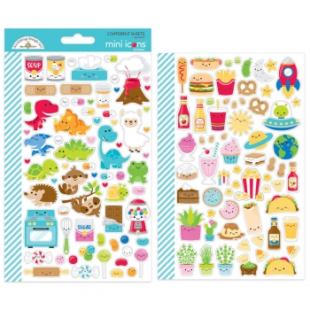 Doodlebug Design - So Much Pun Mini Icons Stickers