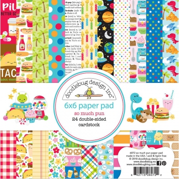 Doodlebug Design - Papierblock So Much Pun Paper Pad 6x6""