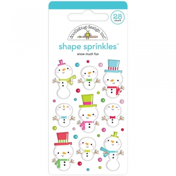 Doodlebug Design - Stickers Snow Much Fun Adhesive Shape Sprinkles