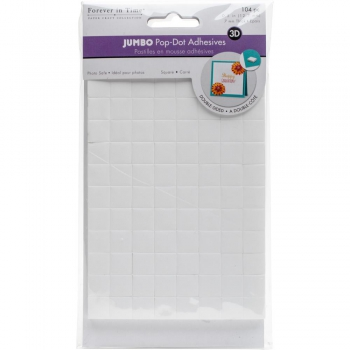 Multicraft - Jumbo Pop Dots 3D Square Adhesives 7mm - 104 Stück