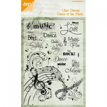 Joy! Crafts - Clear Stamps Dance to the Music