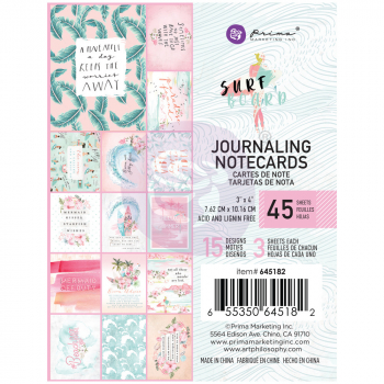 Prima Marketing Surfboard Journaling Notecards 3x4""