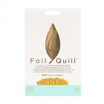 We R Memory Keepers - Foil Quill Foil Sheets Gold Finch