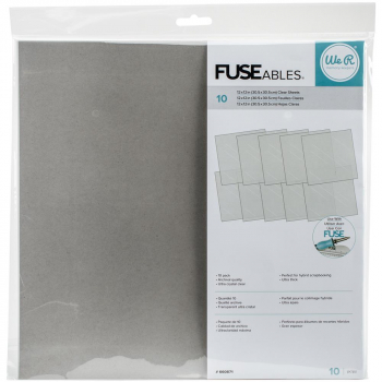 "We R Memory Keepers - Fuseables Fuse Clear Sheets 12x12"" 10 Stück"