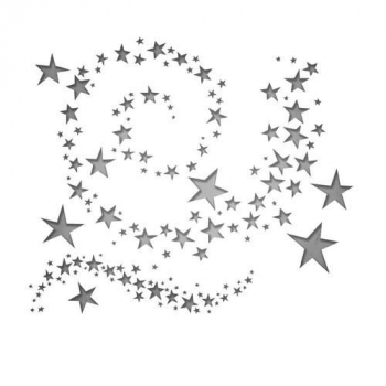 Sizzix Tim Holtz Thinlits Stanzschablonenset Swirling Stars Dies