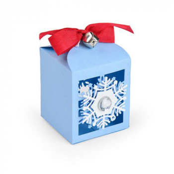 Sizzix Thinlits Stanzschablone Schneeflocken Box Snowflake Favor Box