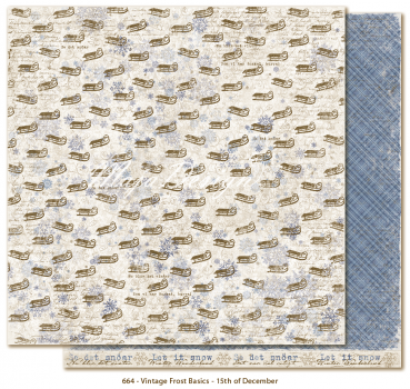 Maja Design Scrapbookingpapier Vintage Frost Basics 15th of December 12x12""