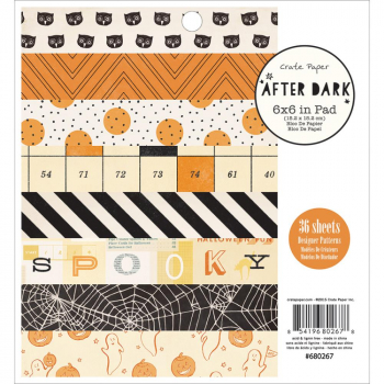 "Crate Paper - After Dark Paper Pad 6x6"" 36 Sheets"