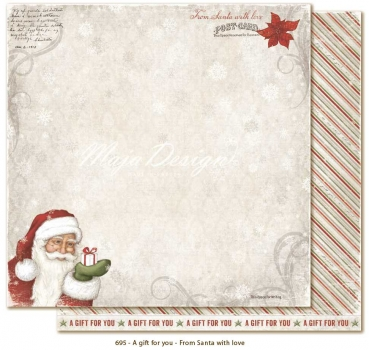Maja Design - Scrapbooking Papier A Gift for You From Santa With Love 12x12""