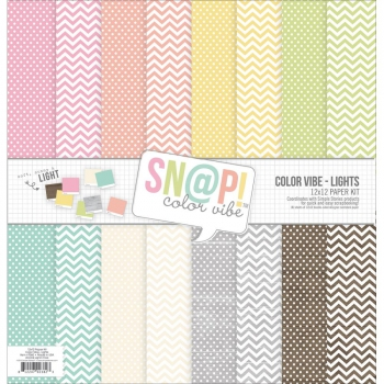 Simple Stories - Sn@p! Lights Color Vibe Paper Kit 12x12""
