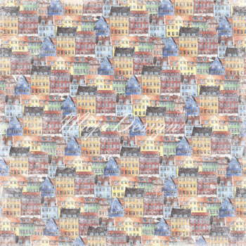 Maja Design Nyhavn Old Townhouses Scrapbookingpapier 12x12""