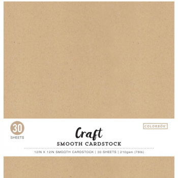 "Colorbök - Scrapbooking Cardstock Kraft Pack 12x12"" 30 Sheets"