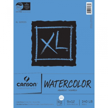 Canson - Watercolor Cold Press Paper Pad 9x12""