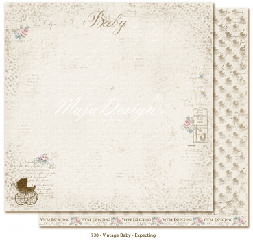 Maja Design - Vintage Baby Expecting 12x12""