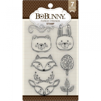 """BoBunny - Clearstempel Set Forest Friends Stamps 4x6"""""""