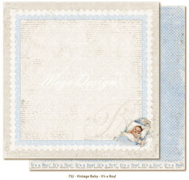 Maja Design - Vintage Baby It's a boy! 12x12""