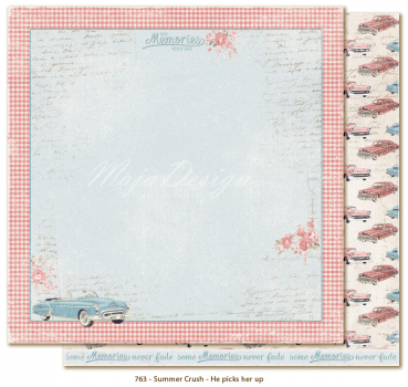 Maja Design Summer Crush He picks her up Scrapbookingpapier 12x12""