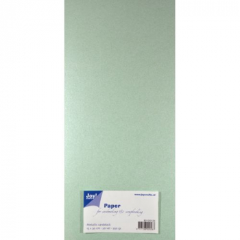 Joy! Crafts Glitzerpapier mintgrün Metallic Cardstock Paper Light Green 15x30cm (1 Bogen)