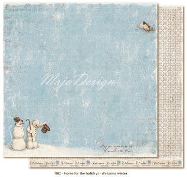 Maja Design - Home for the Holidays Welcome winter 12x12""