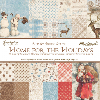 Maja Design - Home for the Holidays Paper Stack 6x6 - 36 Blatt