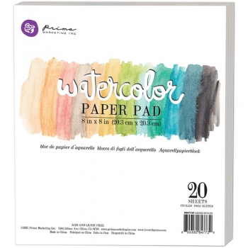 Prima Marketing - Watercolor Paper Pad 8x8""
