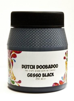 Dutch Doobadoo Strukturpaste Schwarz Gesso Black 250ml