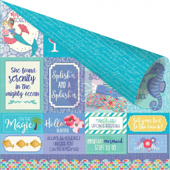 Prima Marketing - Scrapbookingpapier Mermaid Kisses Mermaids Forever Friends Paper 12x12""
