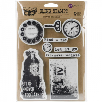 Prima Marketing - Clingstempel Finnabair Cling Stamps Never Too Late 6x7.5""