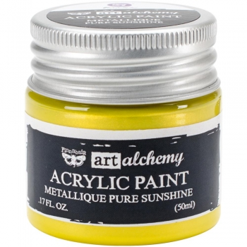 *NEU Prima Marketing - Finnabair Art Alchemy Acrylic Paint Metallique Pure Sunshine 50ml