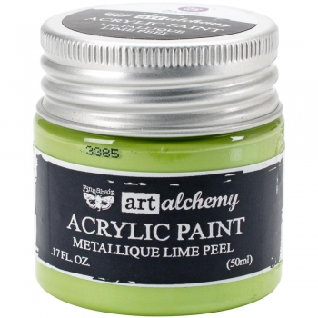 *NEU Prima Marketing - Finnabair Art Alchemy Acrylic Paint Metallique Lime Peel 50ml