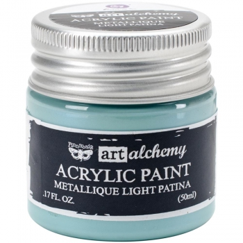 Prima Marketing - Finnabair Art Alchemy Acrylic Paint Metallique Light Patina 50ml