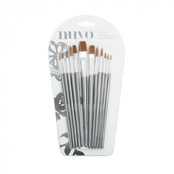Nuvo Nylon Pinselset Paint Brushes