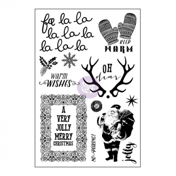Prima Marketing - Clingstempelset Sweet Peppermint Cling Stamp Set 4x6""