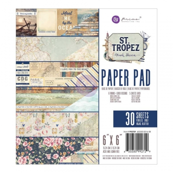 "Prima Marketing - Papierblock St. Tropez Paper Pad 6x6"" 30 Blatt"