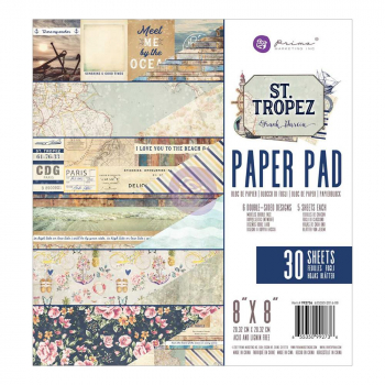 "Prima Marketing - St. Tropez Paper Pad 8x8"" 30 Blatt"