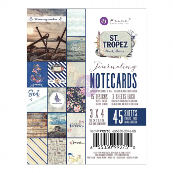 *NEU Prima Marketing - St. Tropez Journaling Notecards 3x4""