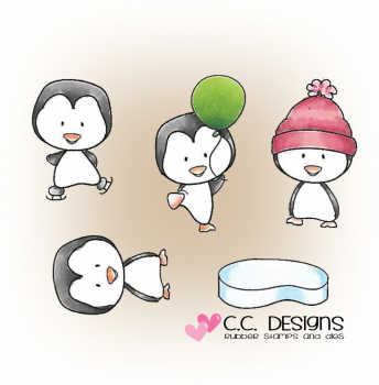 C.C. Designs - Cling Stempel Set Penguin Party