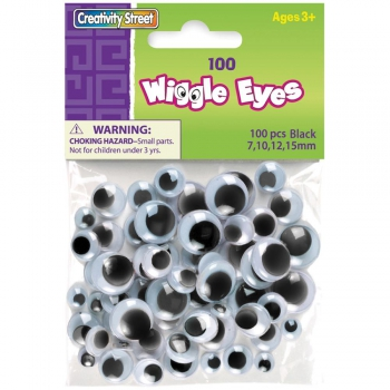 Creativity Street - Wiggle Eyes Assorted 100 Stück