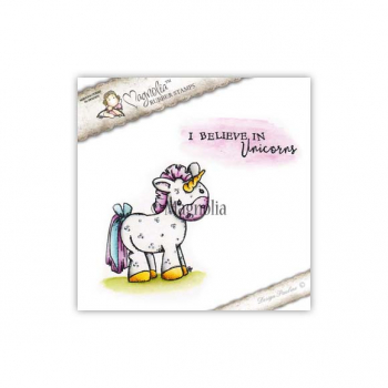 *NEU Magnolia - Cling Stamps Unicorn with text